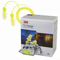 3M Tri-Flange Pre-Molded Earplugs - NRR26