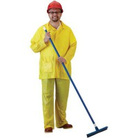 3-piece PVC rainsuit is a low-cost rainsuit solution for light-duty applications.
