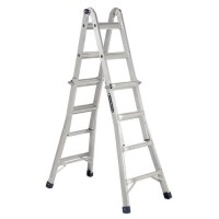 Four different ladder types in one — can be used as a twin step ladder, stairway ladder, scaffold or an extension ladder.