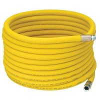 "3/4"" I.D. Wrapped Reinforced Yellow Hot Water Washdown Hose"