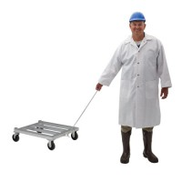 New Age Industrial Aluminum Mobile Dunnage Rack