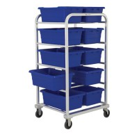Ten-Tote Side-By-Side, Heavy-Duty Aluminum Tote Dolly (REQUIRES SHIPMENT BY TRUCKLINE)