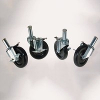 Four Caster Kit for Solid Shelf Aluminum Equipment Stands
