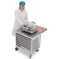 Retractable Shelf, Side Load Prep Cart