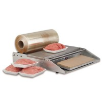 PVC Film Wrapper makes wrapping hamburger meat an easy task.
