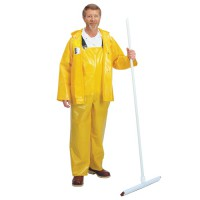 Yellow Iron Eagle Polyurethane-Coated Nylon Rainsuit