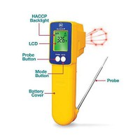 ThermoTrace Infrared/Thermocouple Probe Combo Thermometer