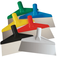 Vikan Stainless Steel Floor Scrapers are available in 6 colors.