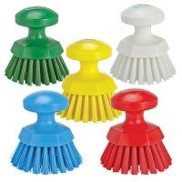 Vikan Total Color Round Hand Brush