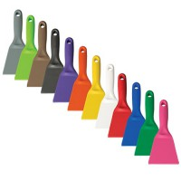 Small, 3 inch x 8 inch Scapers are available in a variety of colors.