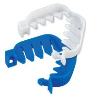 White and Blue 2 Inch Beef Weasand Clips