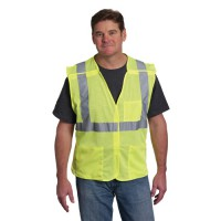 Class 2 Mesh or Solid Fabric Vests with Pockets