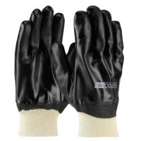 Black PVC Coated Canvas Gloves