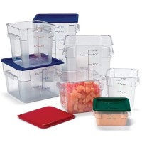 Clear, StorPlus Polycarbonate Square Food Storage Containers