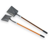 Square Steel Shovel with Fiberglass Handle