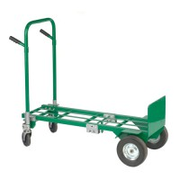Convertible 2-in-1 Hand Truck utilizing all 4 wheels.