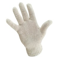 Light Weight Knit Glove with White Wrist Cuff Edge.