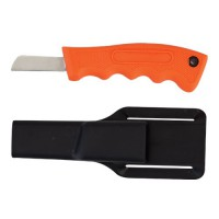Orange Handled Utility Knife with Sheath