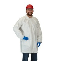 White Microporous Lab Coat
