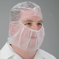 Poly Hood serves as a bouffant and a beard guard all in one!