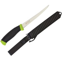 "Fishing Knife includes an ""Easy Clean"" polypropylene sheath belt loop."