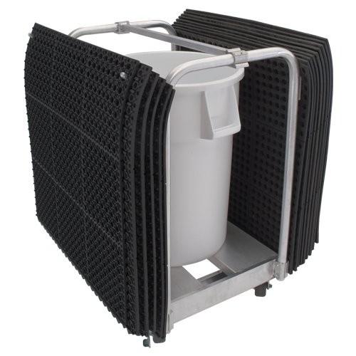 Aluminum Floor Mat Clean-up Cart