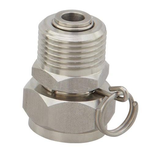 Stainless Steel Swivel Adapter - 3/4 in. GHT x 3/4 in. GHT - MFR # N17SE