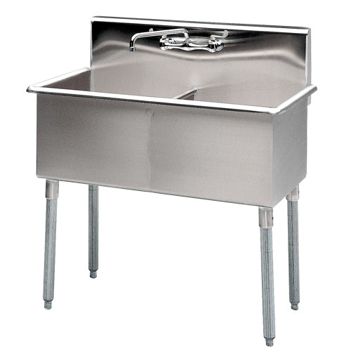 Two-Compartment Stainless Steel Sinks