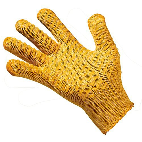 Knit Gloves with Grip-Enhancing PVC Coating