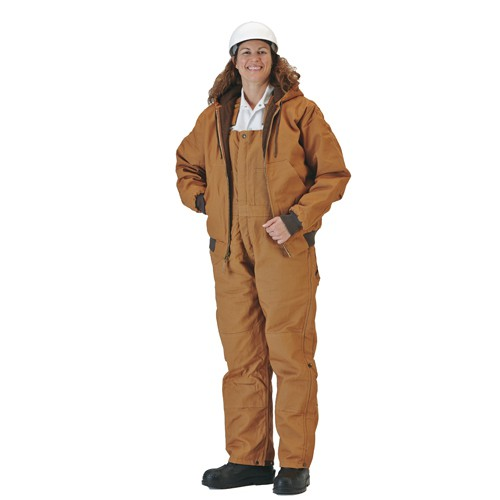 Brown Duck, 10-oz., Blanket-Lined Jacket and Overalls
