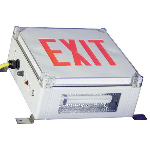 LED Emergency Exit Signs for Wet Locations