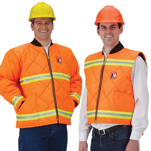 Koolerwear 7.4-oz. Hi-Viz Orange Insulated Cooler Jackets & Vests