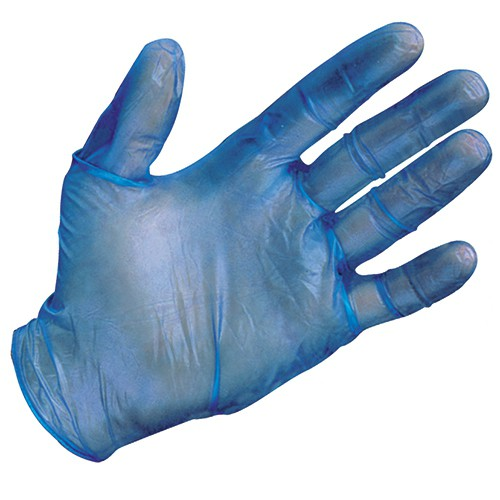 5-Mil. Metal Detectable, Powder-Free, Vinyl Disposable Gloves
