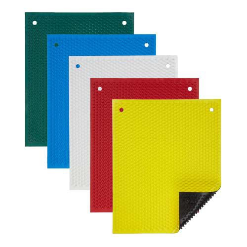 Knobby Rubber Mats with Black Back