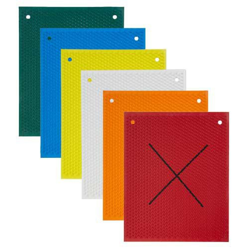 "Knobby Rubber Mats with ""X"" Back"