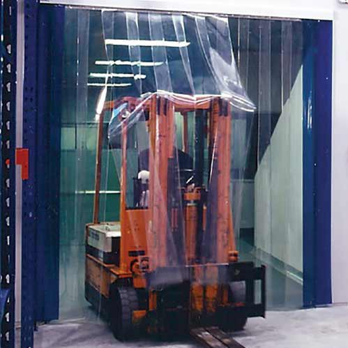 QuickMount Standard Smooth Clear PVC Strip Curtains