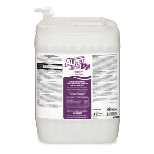 Alpet D-2 No-Rinse Surface Sanitizer - 5-Gallon Pail
