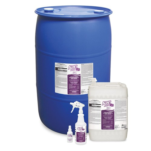 Alpet D-2 No-Rinse Surface Sanitizer is available in a wide range of sizes.