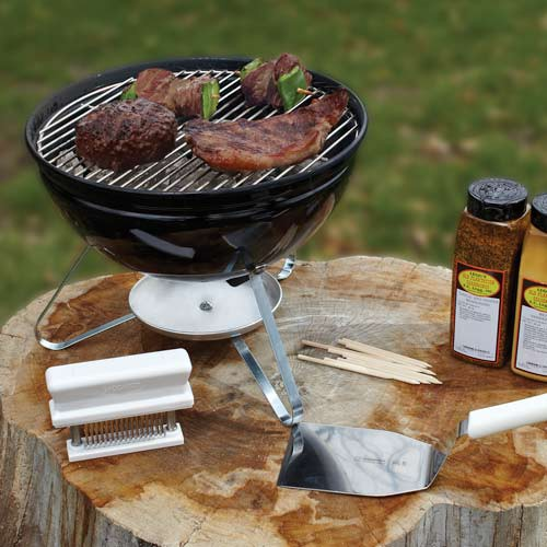 The Smokey Joe Grill is ideal for outdoor bbq and grilling.