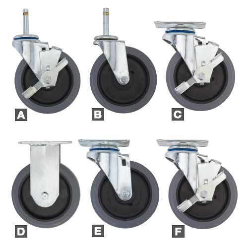 "Heavy-Duty 5"" Casters - Descriptions Below"