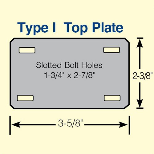 Type 1 Top Plate Caster Ilustration