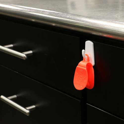 The Viper Bag Opener features a handy hang hole to allow it to be hung when not in use.