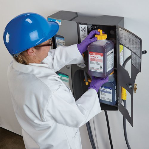 The J-Fill QuattroSelect Dispensing System is simple to install.
