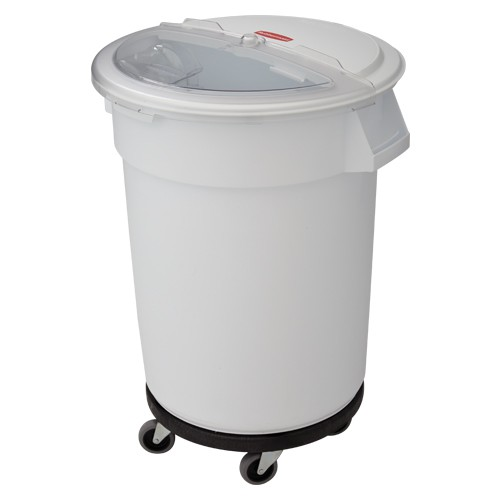 Rotating clear lid fits on 10-, 20-, or 32-gallon round drum containers (sold separately)