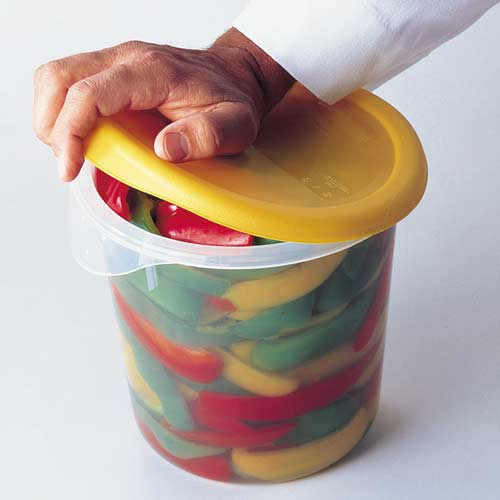 Positive locking lids have gripper ring.