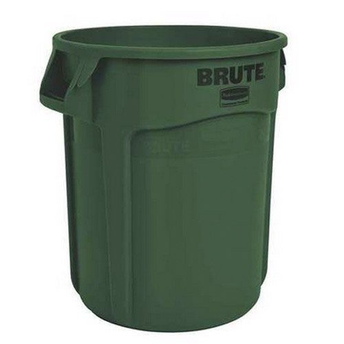 Dark Green, 55-Gallon Round Drum with Venting Channels