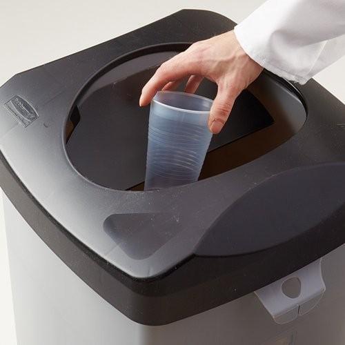 Untouchable provides hands-free disposal.
