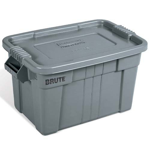 Gray, 20-Gal. Super-Duty Brute Tote with Lid