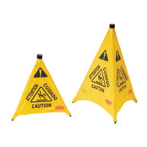 """Pop-Up Safety Cones are available in 20"""" or 30"""" height."""