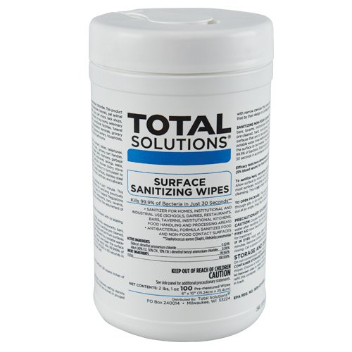 Total Solutions, 100-Count Canister of Wipes.